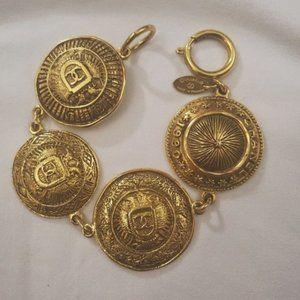 Vintage Coat of Arms Medallion Bracelet